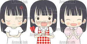 expressions illustration material set !