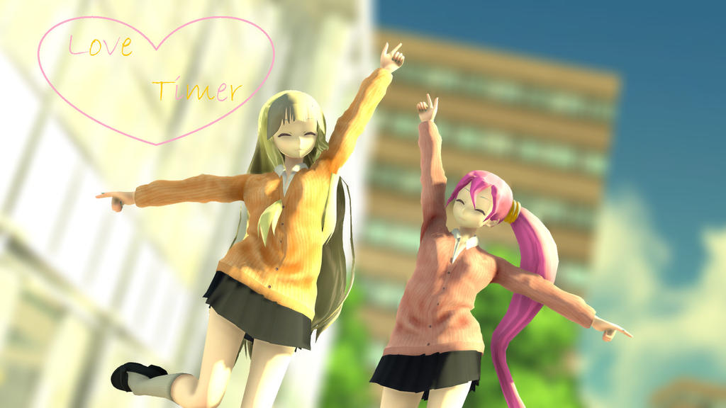 [MMD] Love Timer [TDA JKStyle SeeU and Uni] by SeeUVocaloid3channel