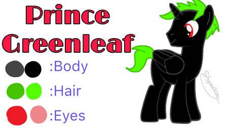 Late Art Trade: Prince Greenleaf Ref Sheet by PrincessSparkleLight