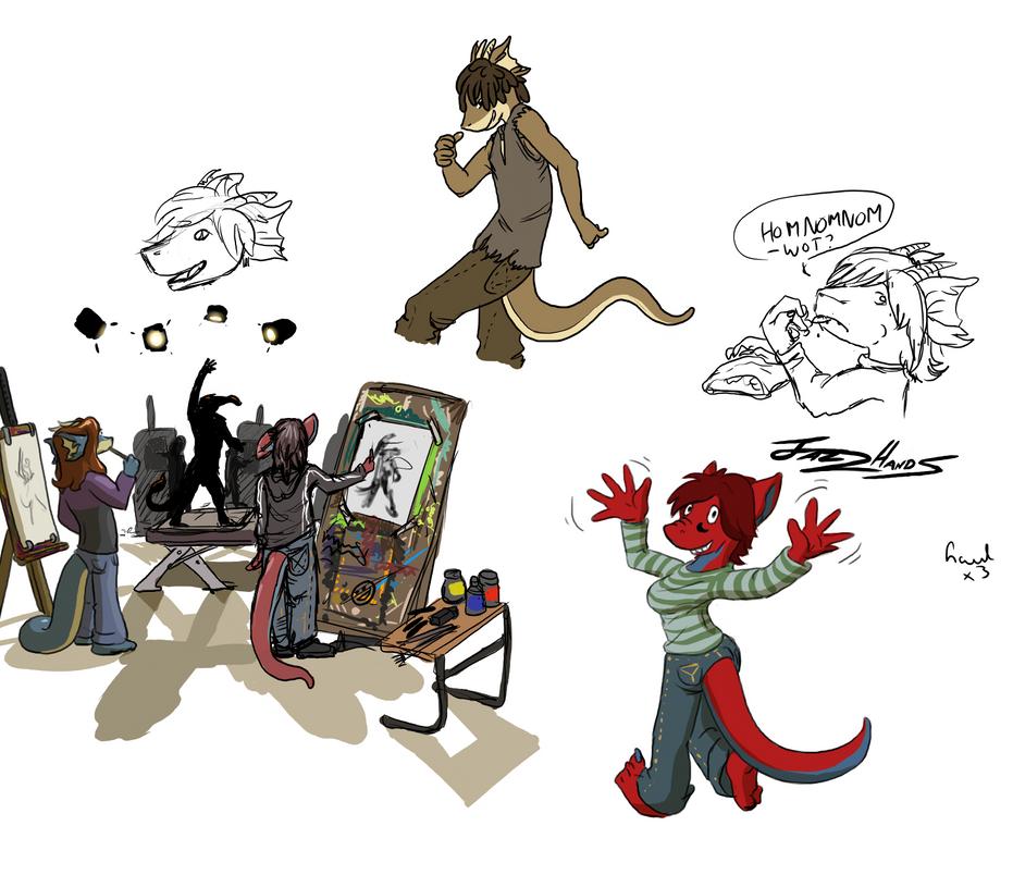 Anthros Life Drawing by Morgoth883