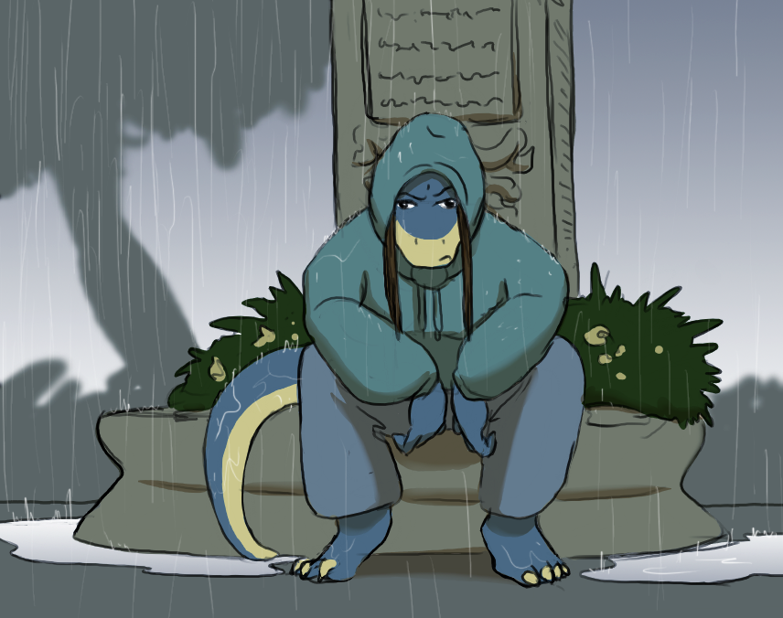 Jen in the rain by Morgoth883