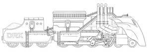 Massive Steampunk Train by Morgoth883