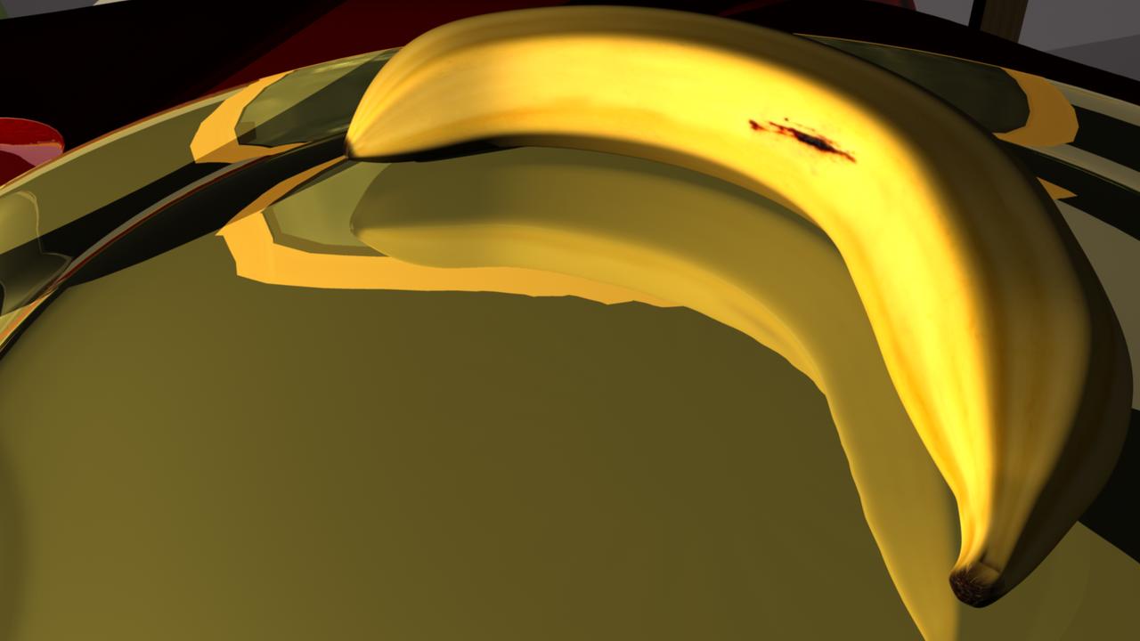 3D Fruit Bowl banana by Morgoth883