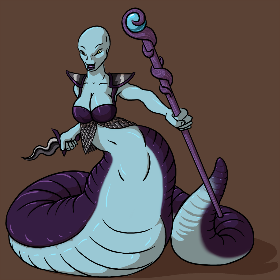 Naga Priestess by Morgoth883