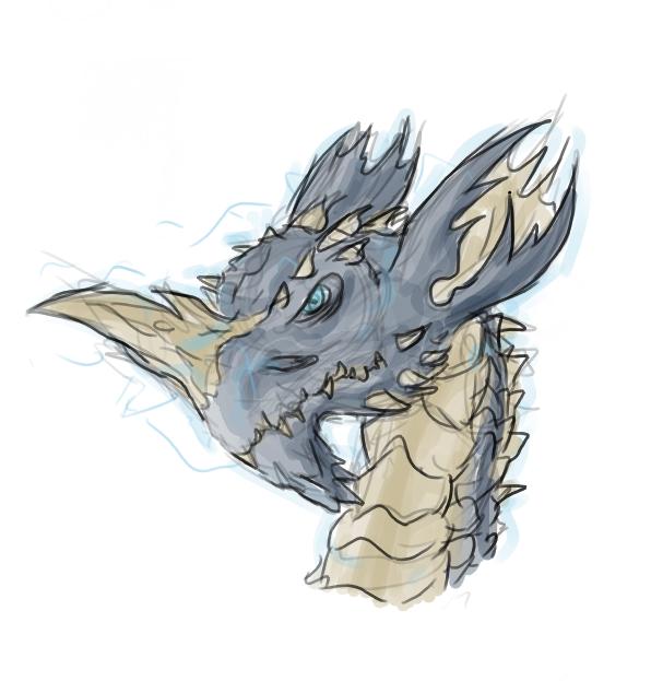 Blue dragon by Morgoth883