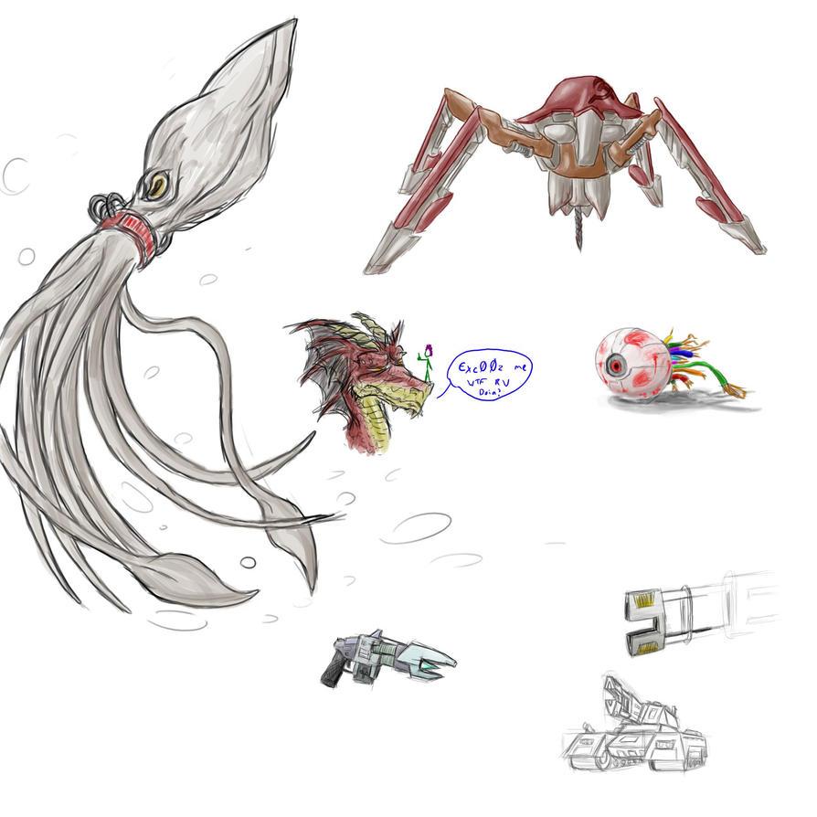 Eyeballs and terror drones by Morgoth883