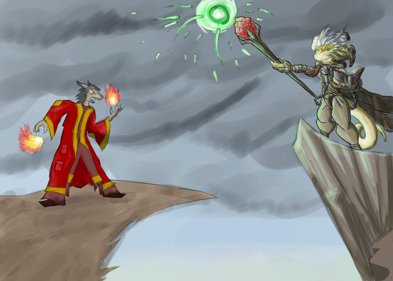 Arcane Showdown by Morgoth883