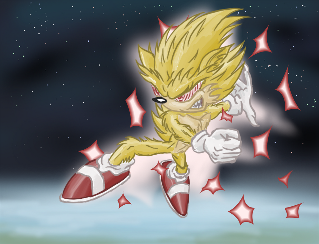 Super Sonic in Space by Morgoth883