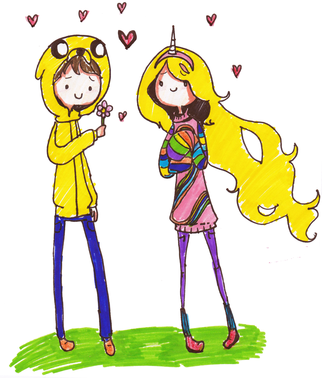 Jake and Lady Rainicorn Human Version by PinkiePieLovely ...