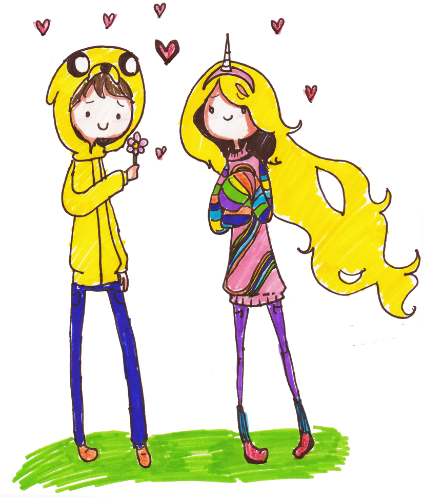jake and lady rainicorn human version by pinkiepielovely