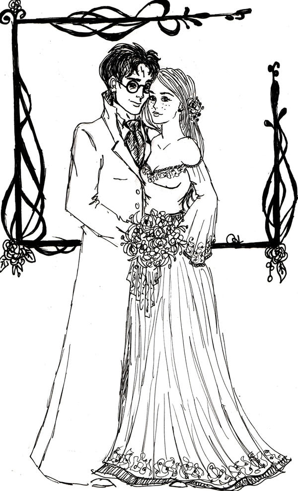 mr and mrs harry potter by indianadelae on deviantart