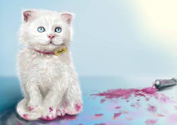 Cat art trade 2010