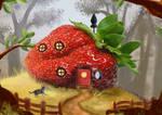 cat-fruit- clock 1 by Trutze