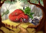 cat-fruit-clock 2 by Trutze