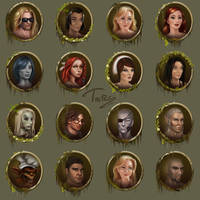 character portraits by Trutze