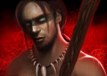 Mr. WIP goes savage warrior by Trutze