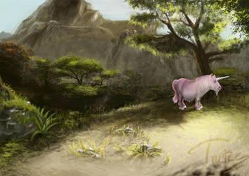 random speed landscape with stupid unicorn by Trutze