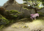 random speed landscape with stupid unicorn