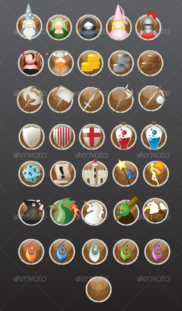 Fantasy rpg wallpaper share online - Rpg Icons By Rfertner On Deviantart