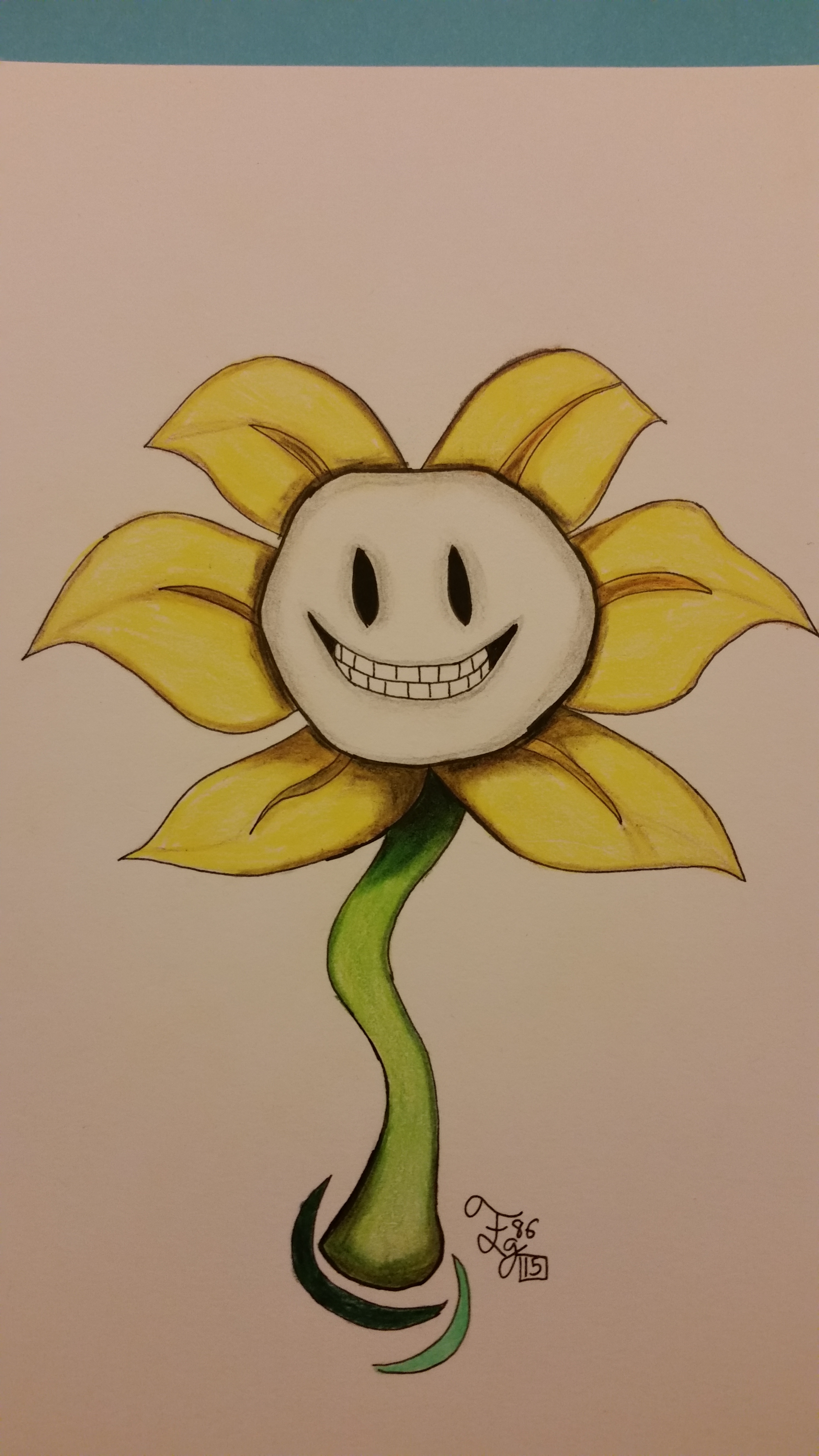 Happy Flowey the Flower by FemGuardian86 on DeviantArt