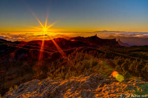 Canarian sunset by Sigfodr