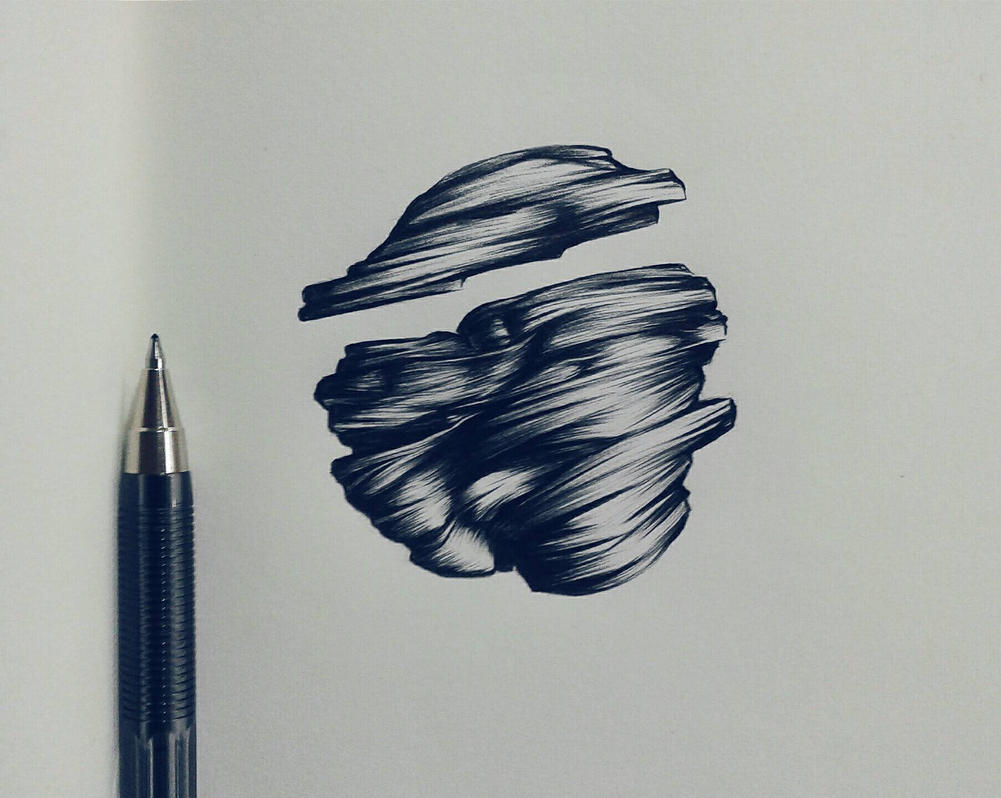 ballpoint pen art black - photo #12