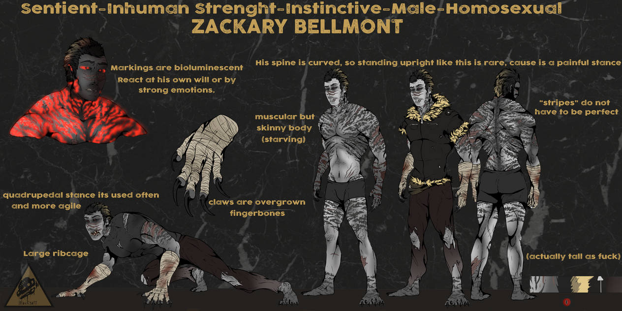 [INVERTED:Bestiary-ANOMALY-1] Zackary Bellmont by Blacksa1t