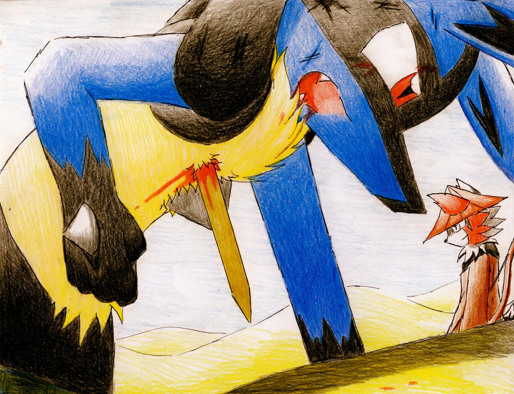 Injured Lucario ...B 52 Shot