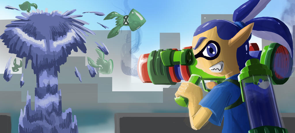 Splatted Away!! by Dogwhitesector