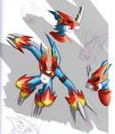 Flamedramon Sketch