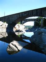 Two bridges of Bellows Falls