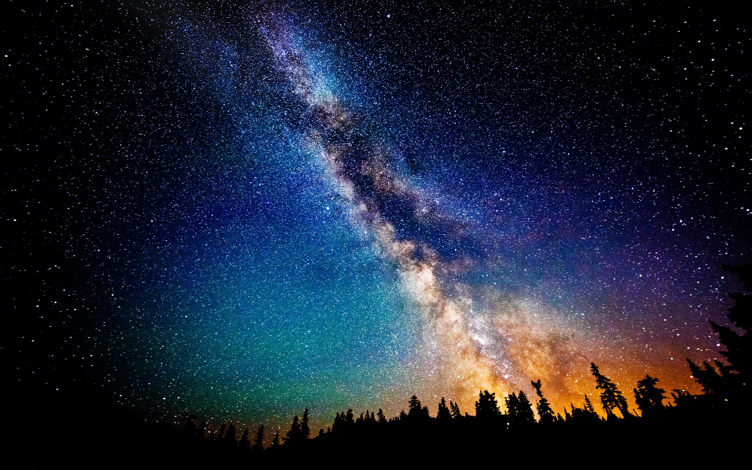 Colorful Milky Way HD (Supported All Resolutions) by Shaiderali