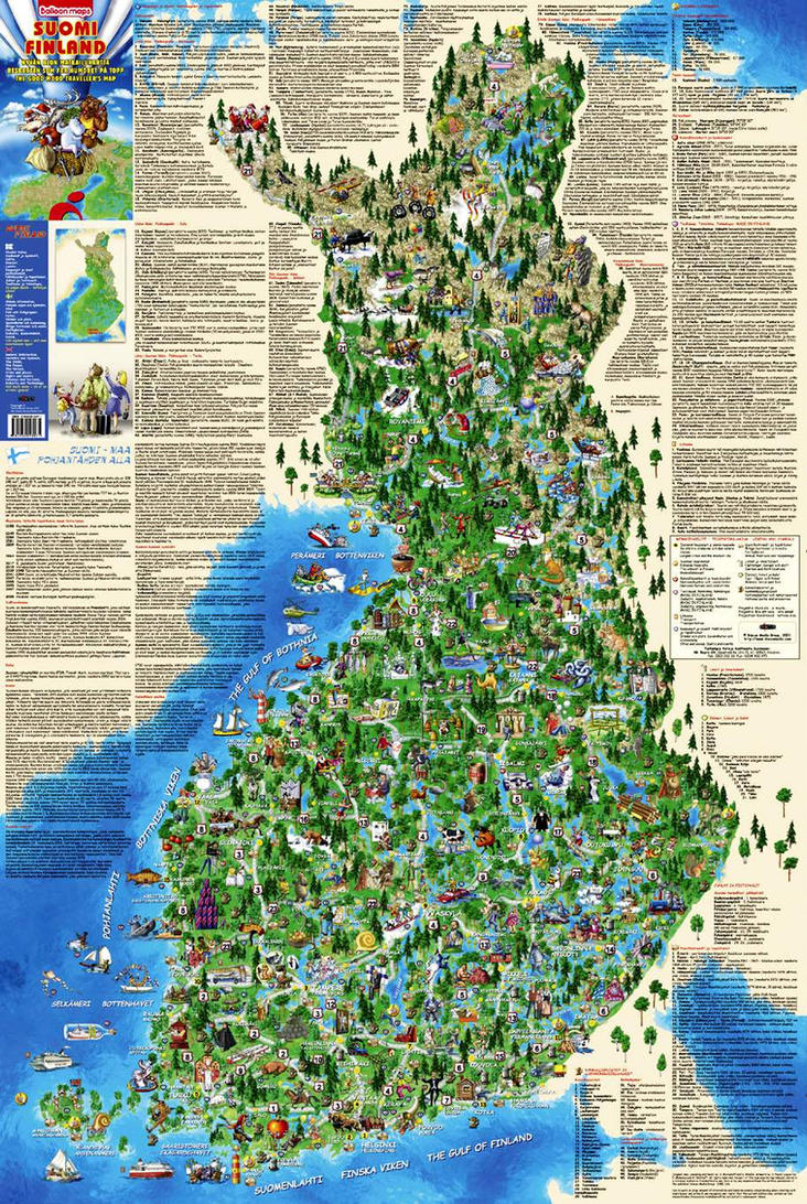 Illustrated map of Finland by MIKHAYLOV on DeviantArt