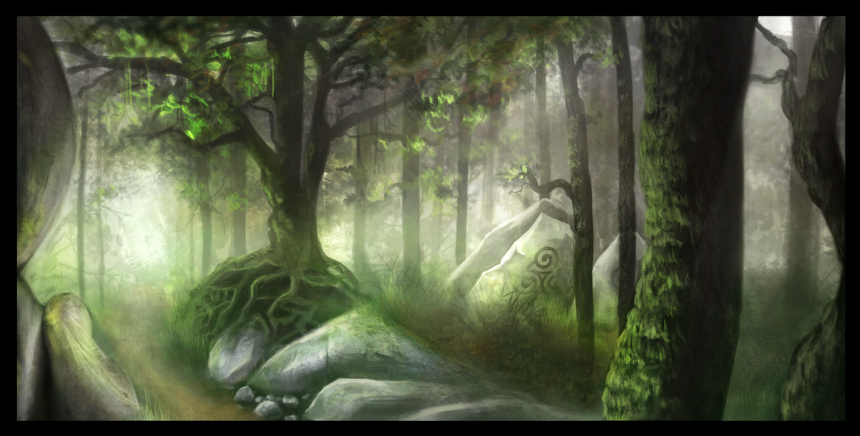 Forest Speedpainting by weinrot93