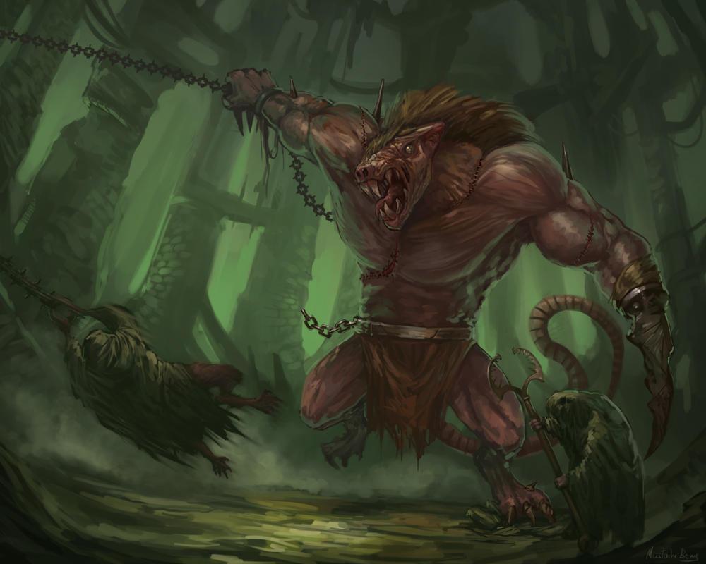 Warhammer Fantasy - Rat Ogre's fury by GetsugaDante