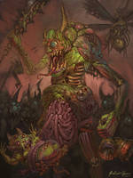 Warhammer Fantasy/40k - Plaguebearers of Nurgle by GetsugaDante