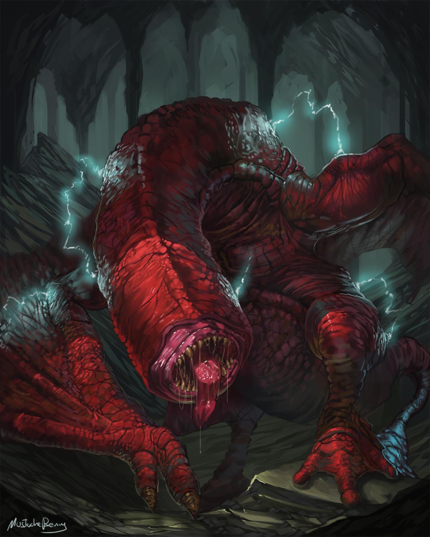 ♕ SPIRIT BRINGERS: EMPYREAN REALM. (SAGA DE UNUKALHAI) - Página 21 Monster_hunter___red_khezu_by_getsugadante-damy8nt