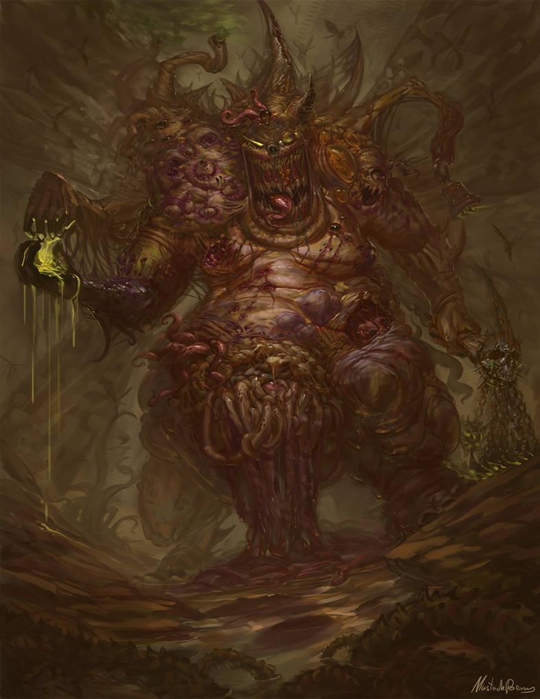 Warhammer Fantasy - Daemon prince of Nurgle by GetsugaDante