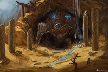 Desert golem by GetsugaDante