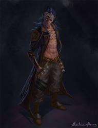Commission - Grey-Human Hybrid by GetsugaDante