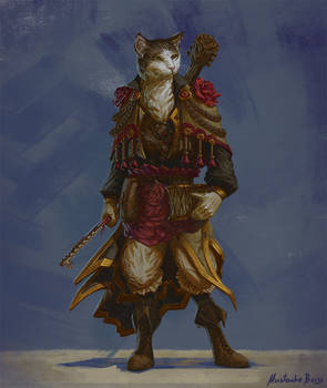 Commission - Tabaxi Bard