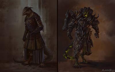 Commission - Lizardfolk Bloodrager