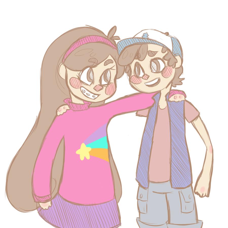 awkward sibling side-hugs! by JadeEnglish on DeviantArt