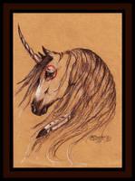 Native Unicorn Buckskin Mustang Horse Brown Bay by StephanieSmall