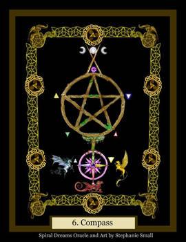 6 Compass Pentagram Dragon Griffon Gryphon Tree