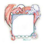 Unicorn and Dragon Frame by StephanieSmall