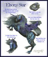 Ebony Star Arabo-Friesian Winged Unicorn Pegasus by StephanieSmall