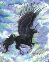 Abaharan Stallion Winged Unicorn Pegasus Kir'rin by StephanieSmall