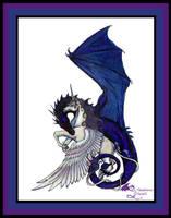 Dragon Unicorn Eternal Embrace Valentine Love Wht by StephanieSmall