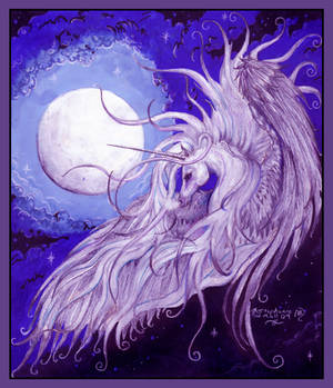 Unicorn Moon Dreams of Life and Song Pegasus Horse